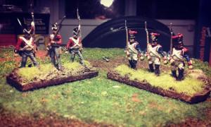 Infanterie anglaise et française